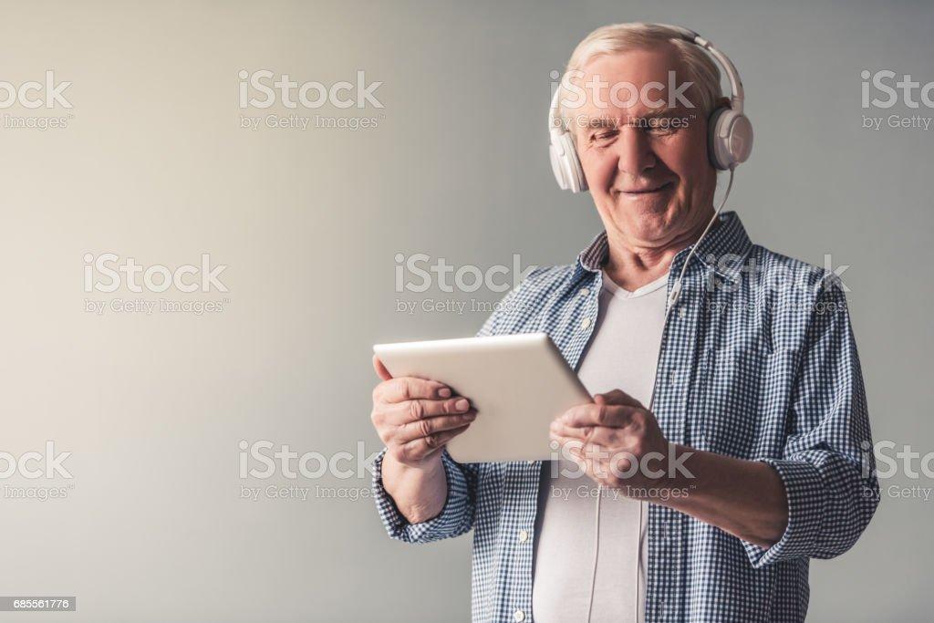 Handsome old man 免版稅 stock photo