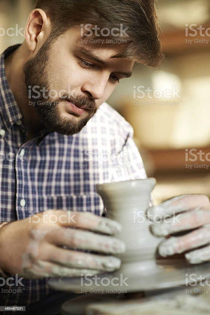 Handsome pottery artist royalty-free stock photo