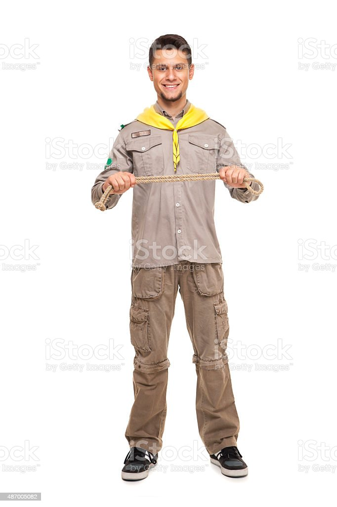 Handsome scout man stock photo