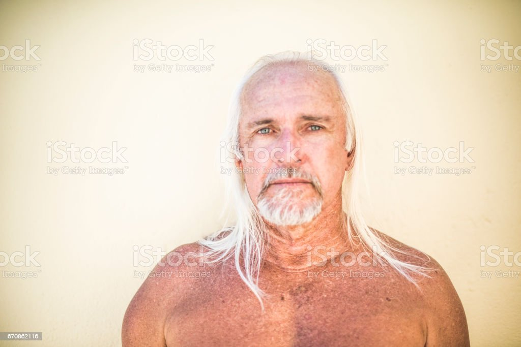 Handsome senior man looking to camera royalty-free stock photo