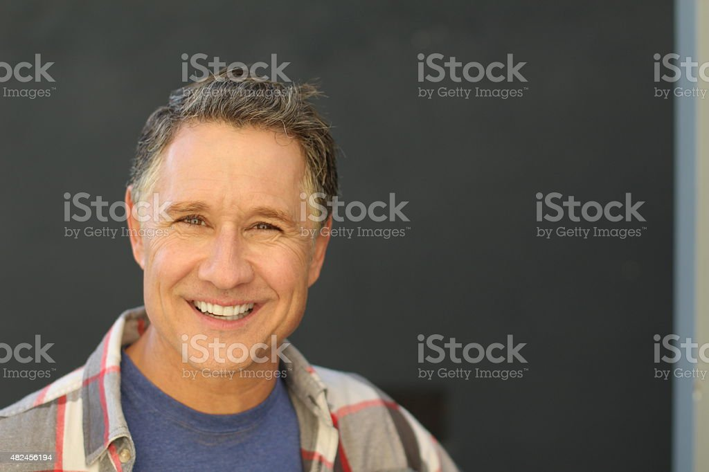 Handsome senior man stock photo