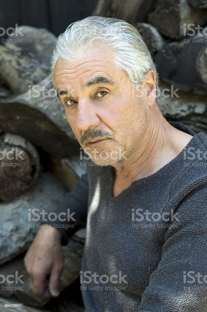 Handsome Senior stock photo