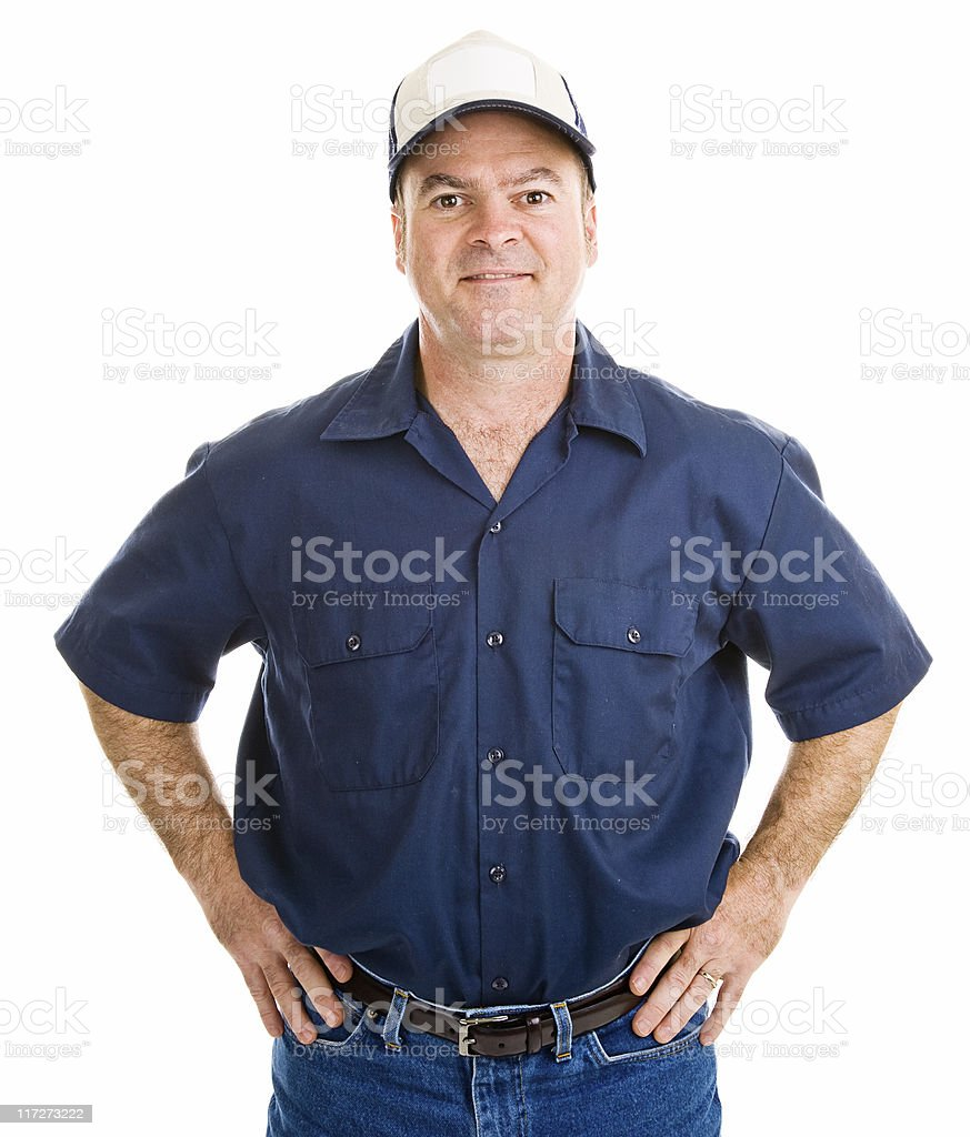 Handsome Service Worker stock photo
