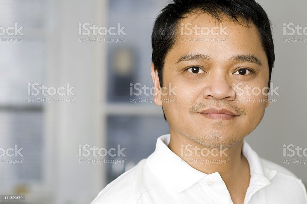 Handsome Smiling Asian Man stock photo