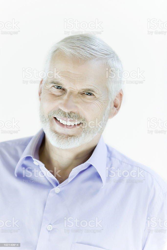handsome smiling senior man portrait royalty-free stock photo