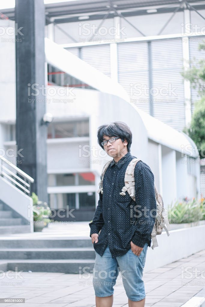 HandSome Southeast Asian Traveler royalty-free stock photo