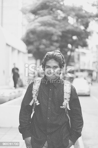 Handsome Southeast Asian Traveler Stock Photo & More Pictures of Adult