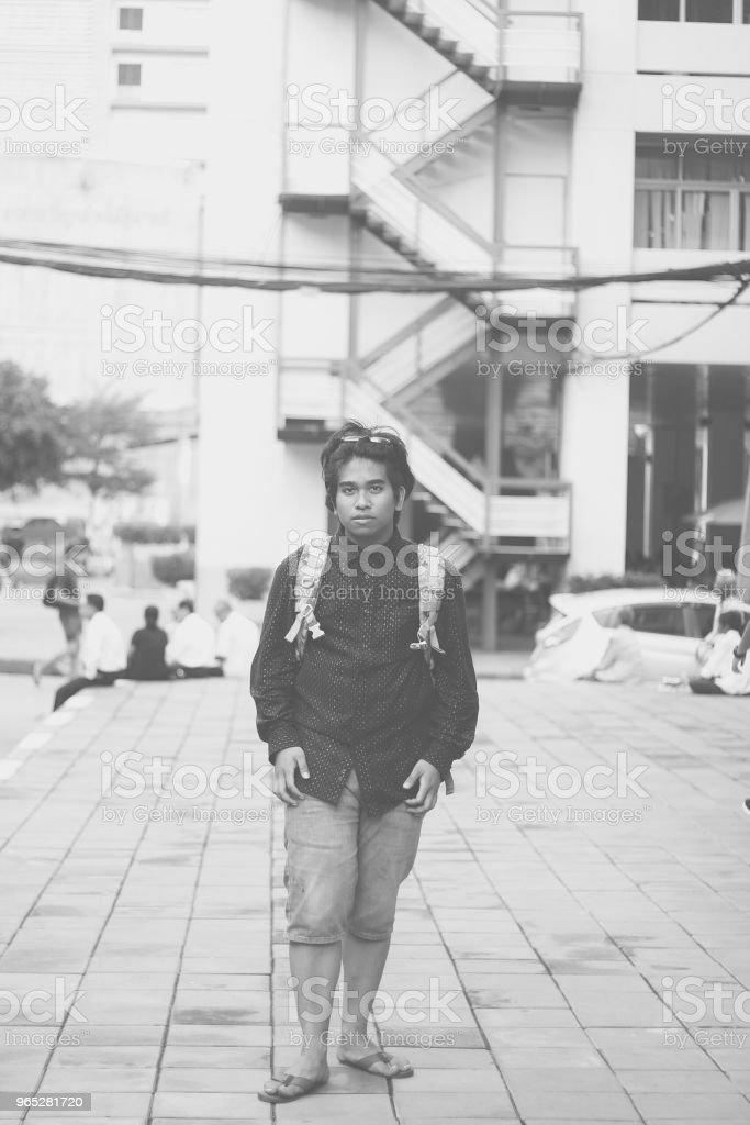 HandSome Southeast Asian Traveler zbiór zdjęć royalty-free