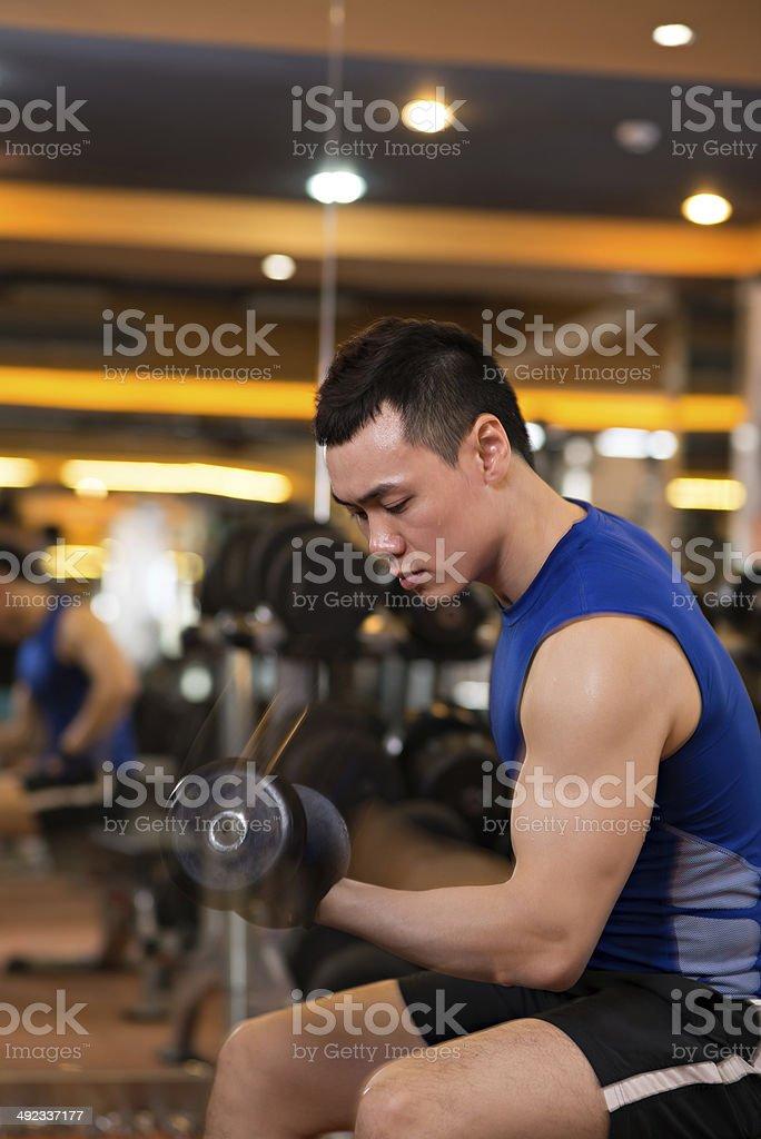 Handsome sportsman stock photo