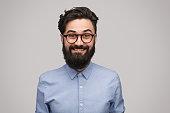 istock Handsome thrilled man in eyeglasses 1138358794