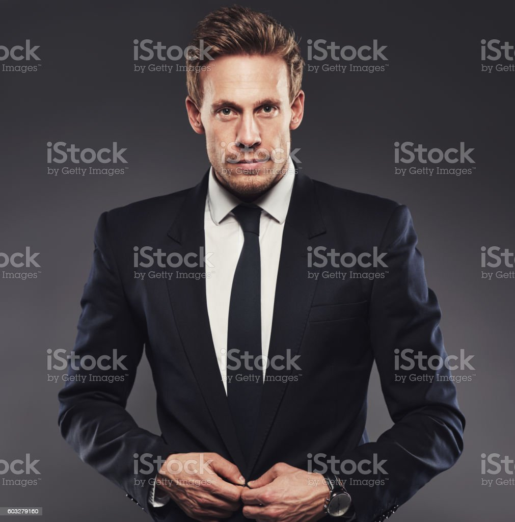 Handsome with a dash of sophistication stock photo