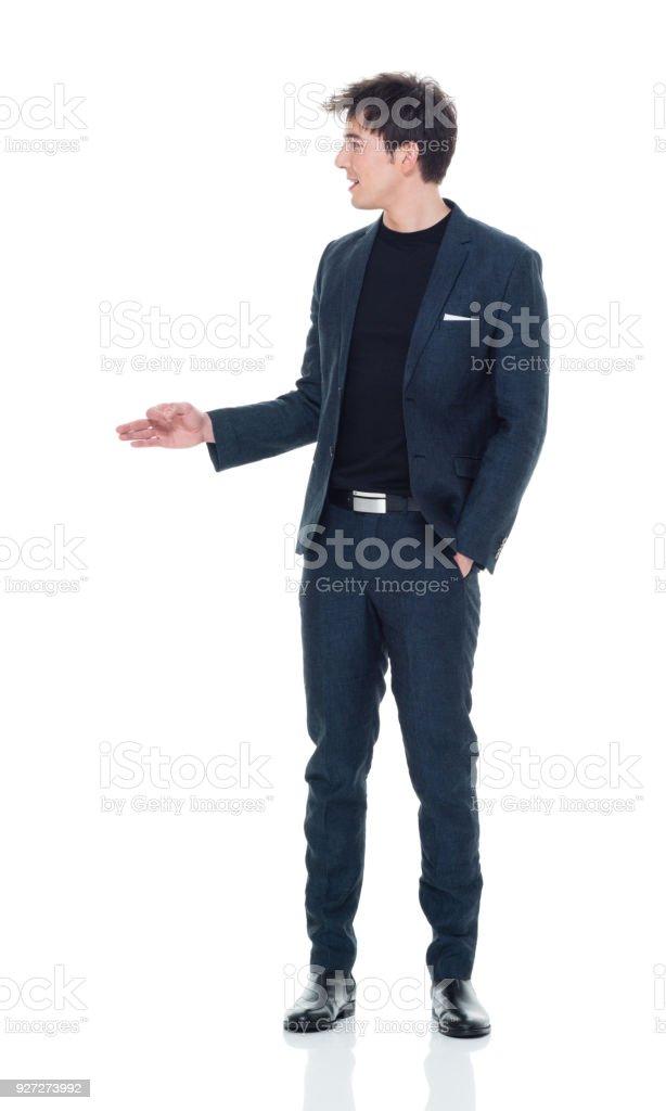 Hübscher junge Männchen in Business-Kleidung – Foto