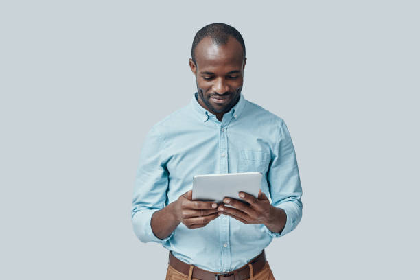 Handsome young African man stock photo