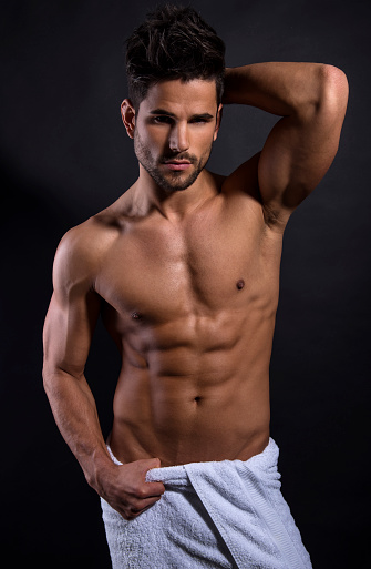 Portrait Of A Physically Fit Muscular Hairy Man — Stock