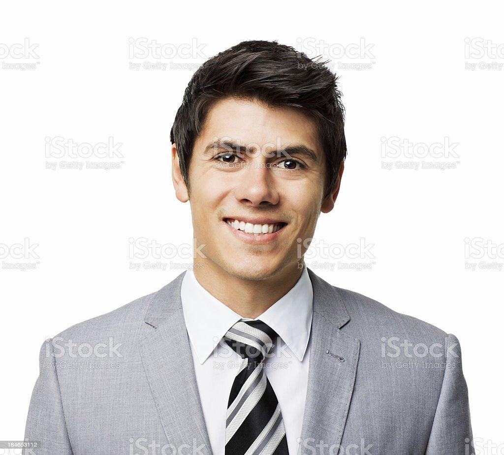Hübscher junger Geschäftsmann-isoliert – Foto
