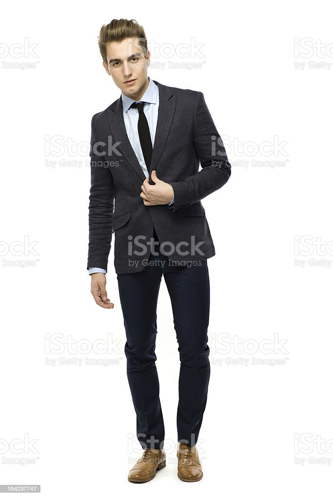 Handsome young businessman royalty-free stock photo