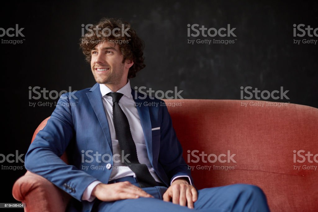 Handsome young businessman stock photo