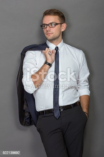 498403166 istock photo Handsome young businessman wearing glasses 522139692