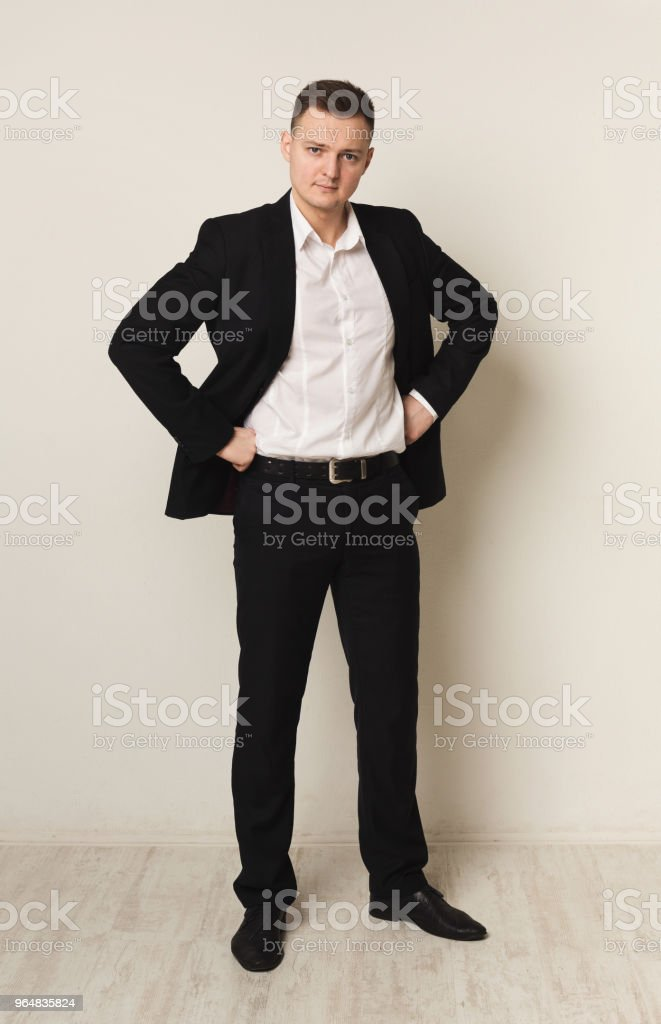 Handsome young caucasian businessman royalty-free stock photo