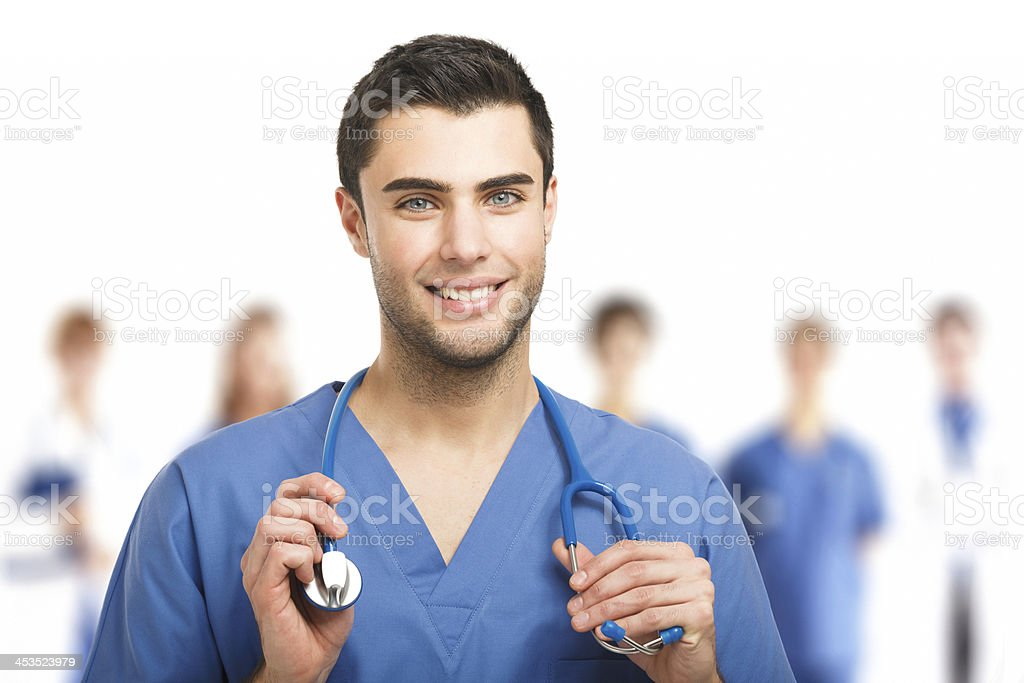 Handsome young doctor royalty-free stock photo