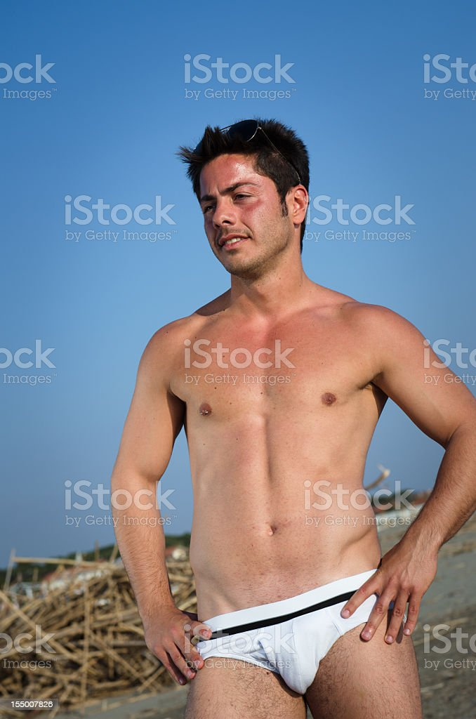 Handsome young guy at summer royalty-free stock photo