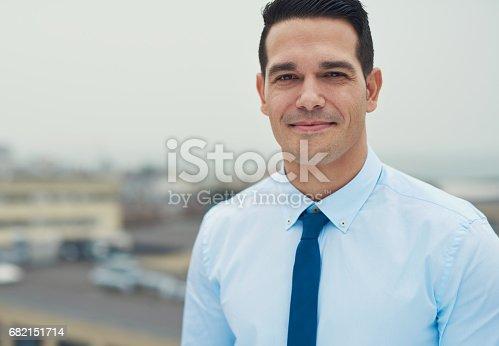 istock Handsome young Hispanic businessman 682151714