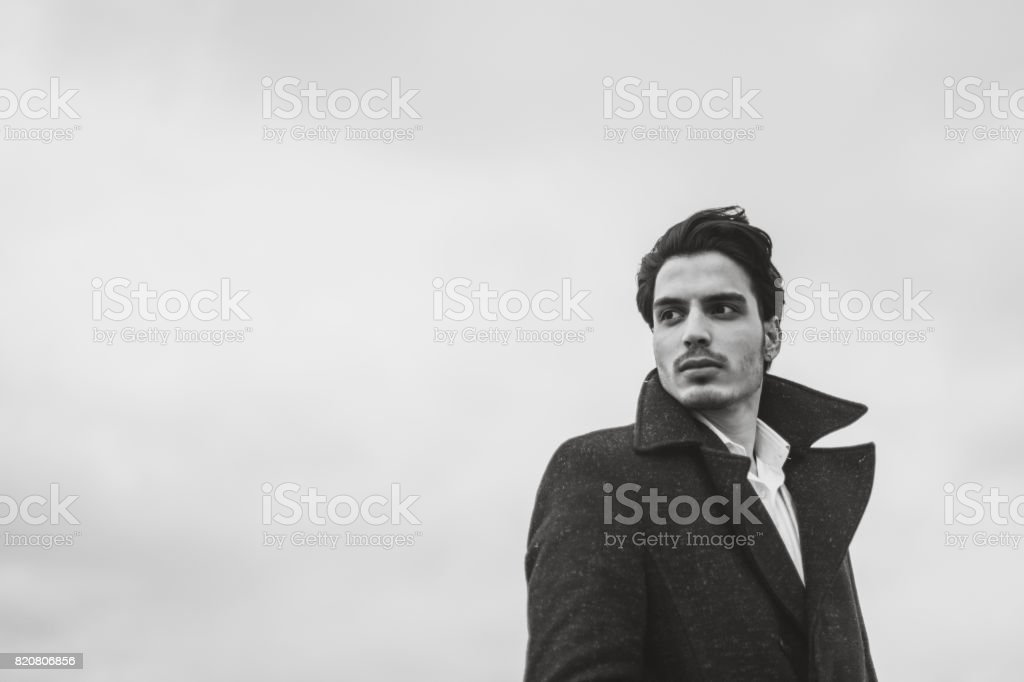 Handsome young Indian man stock photo