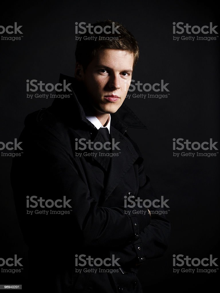 Handsome young male model royalty-free stock photo