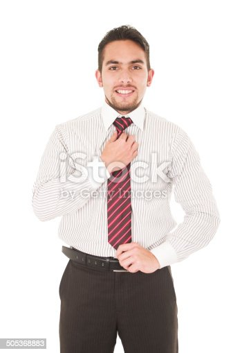 istock handsome young man in formal clothes 505368883