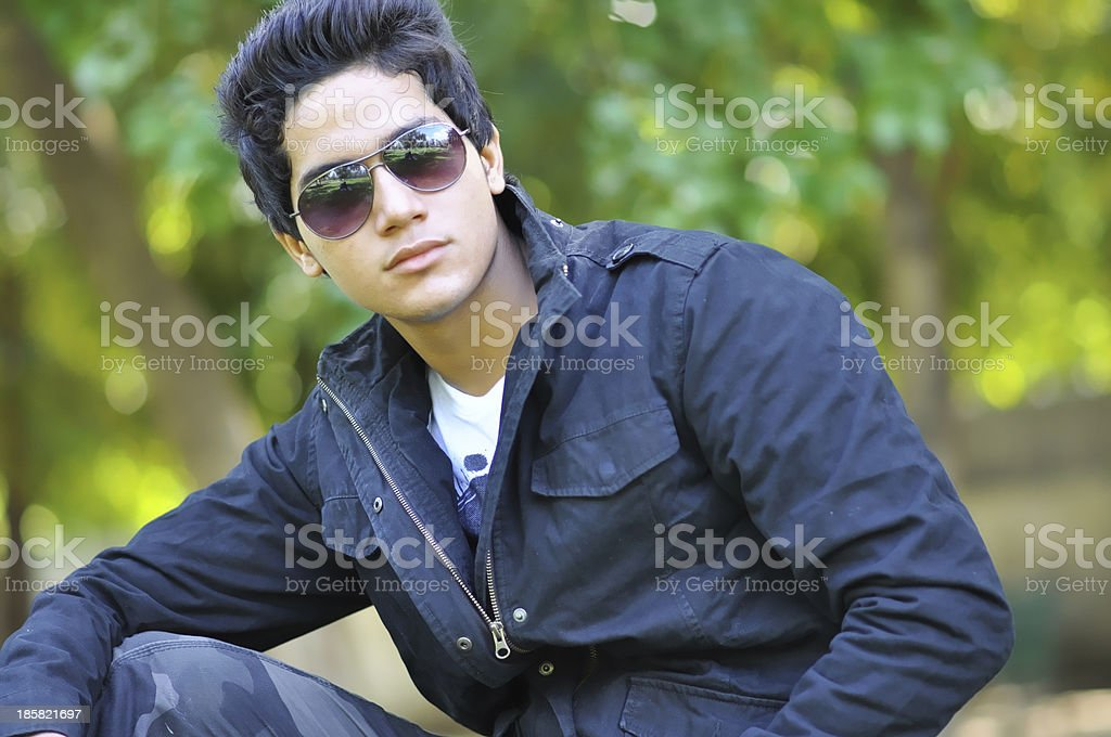 Handsome Young man looking royalty-free stock photo
