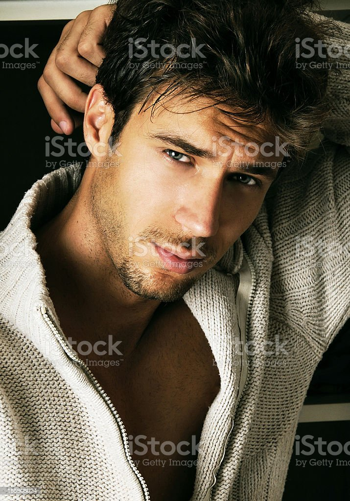 handsome young man stock photo