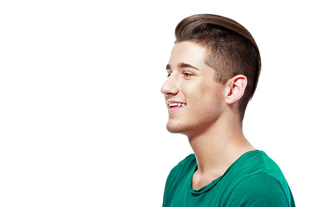 handsome young man - profile view stock photos and pictures
