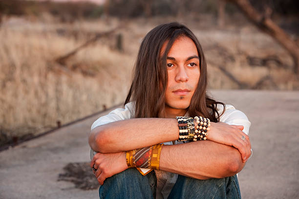 Handsome Young Man  indigenous peoples of the americas stock pictures, royalty-free photos & images