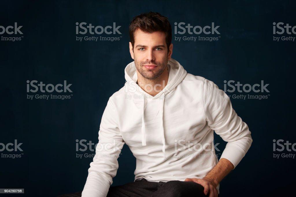 Handsome young man portrait стоковое фото