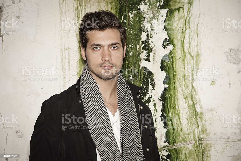 Handsome young man posing stock photo