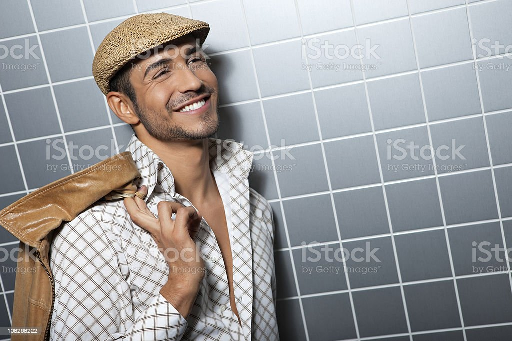 Handsome Young Man Smiling stock photo