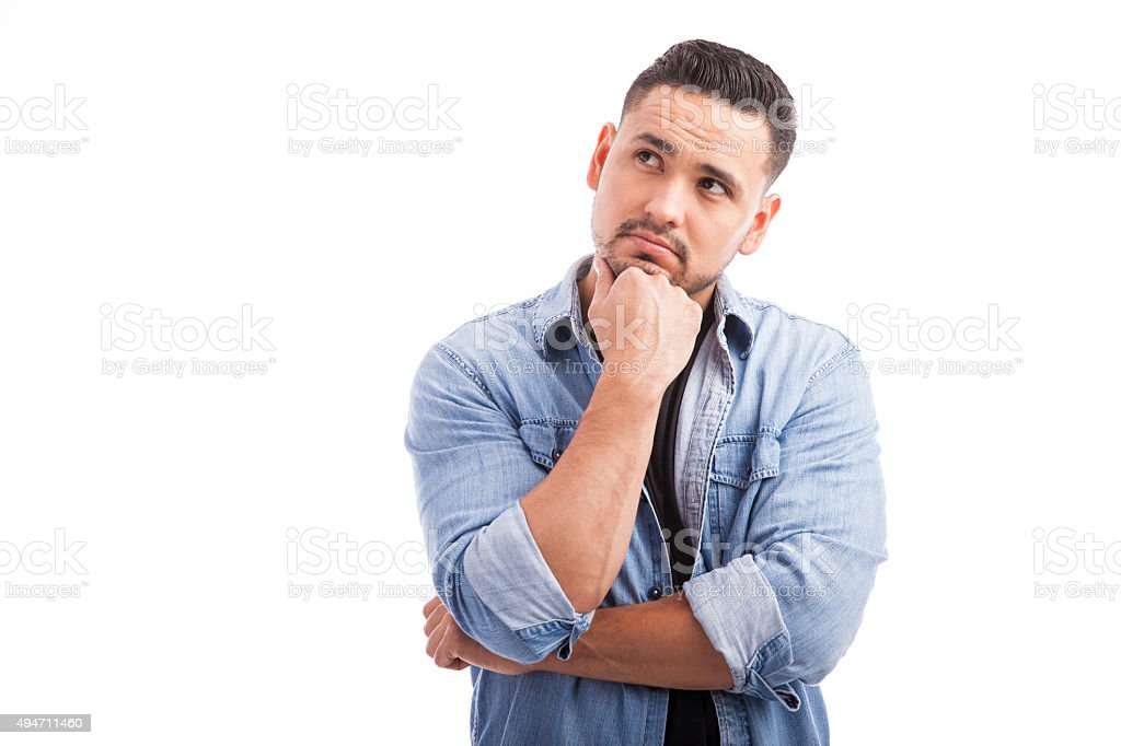 Handsome Young Man Thinking Stock Photo - Download Image ...