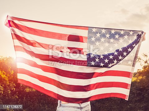 514069232istockphoto Handsome, young man waving an American flag 1147128372