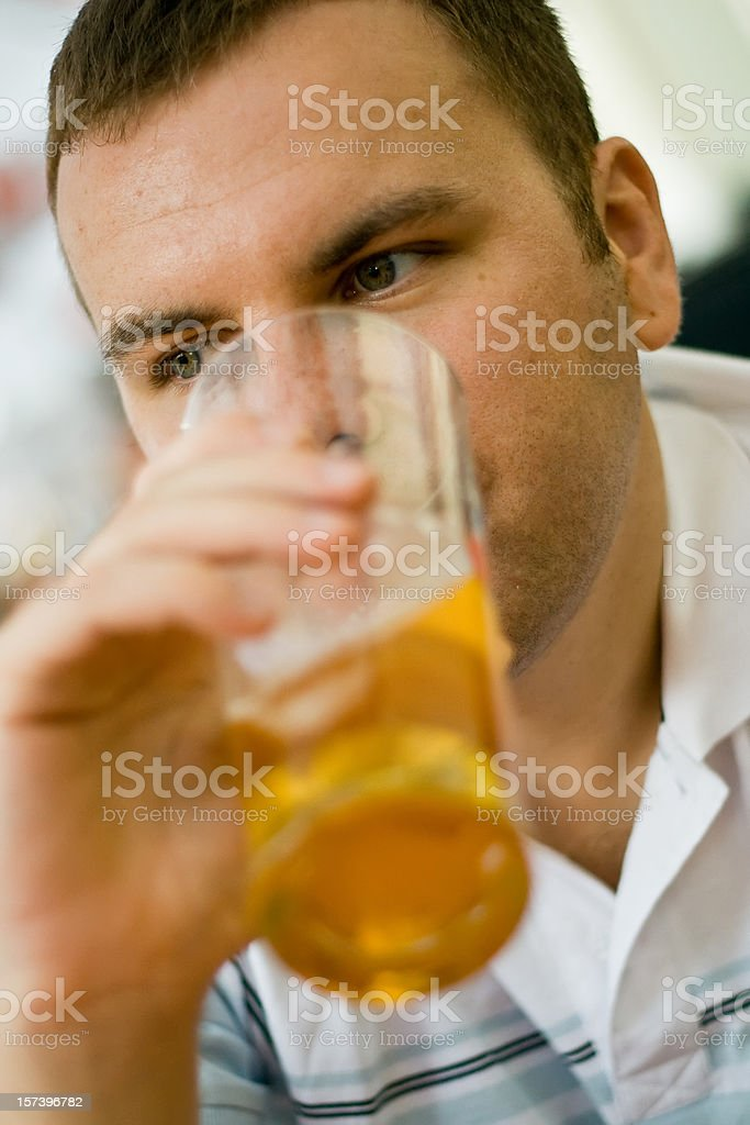 Handsome young man with beer  Adult Stock Photo