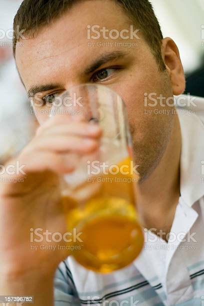 Handsome Young Man With Beer Stock Photo - Download Image Now