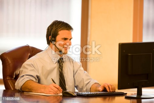 513583458 istock photo Handsome Young Man Working At His Computer 116505446