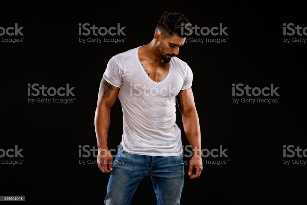 Handsome Young Men stock photo