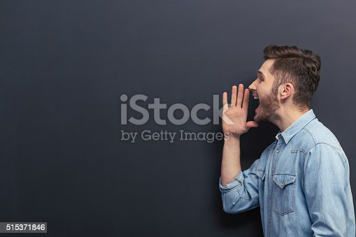 istock Handsome young student 515371846