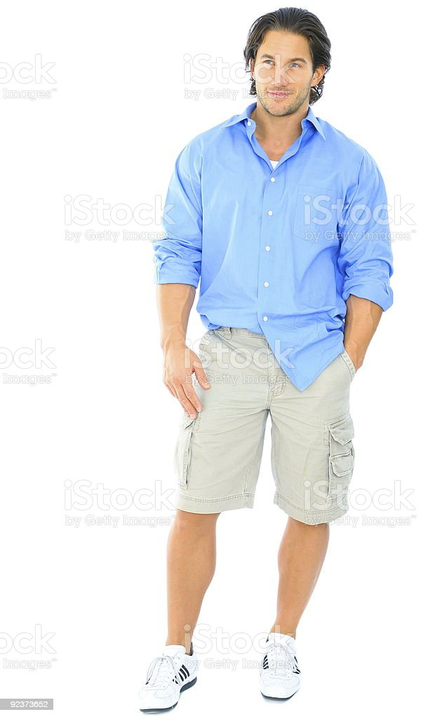 Handsome Youngman Standing royalty-free stock photo