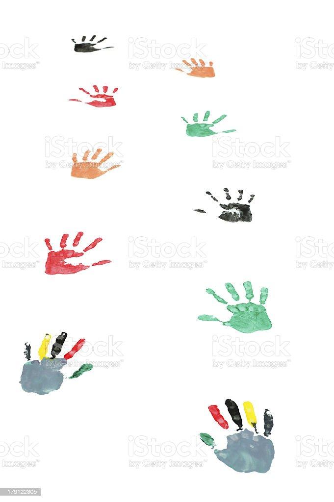 Handsprints royalty-free stock photo