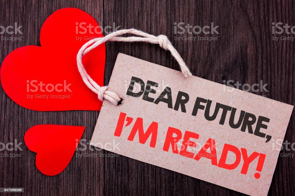 Foto De Exibição De Texto Do Anúncio Letra Caro Futuro Eu Am
