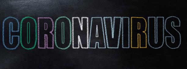 Handschrift-Coronavirus-Konzept an der Tafel – Foto