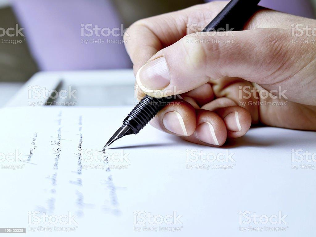 Handwriting stock photo
