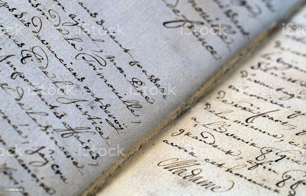 Handwriting royalty-free stock photo