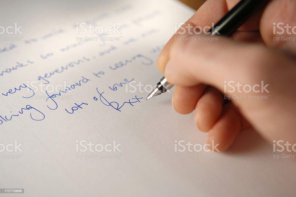 handwriting series stock photo